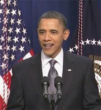 A cheery President Obama