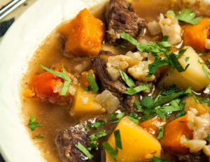 Paelo Beef and Winter Vegetable Soup